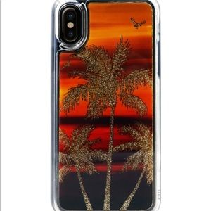Apply iPhone X / XS case Liquid glitter Palm Tree